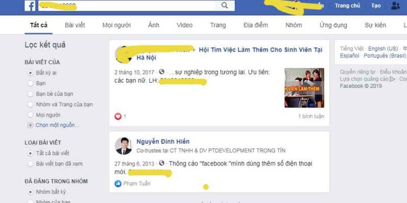Cách tìm Facebook qua ảnh Zalo số điện thoại họ tên chính xác